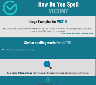 Correct spelling for victim