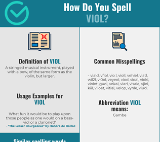 Correct spelling for viol