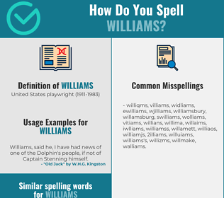 Correct spelling for williams