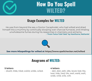 Correct spelling for wilted