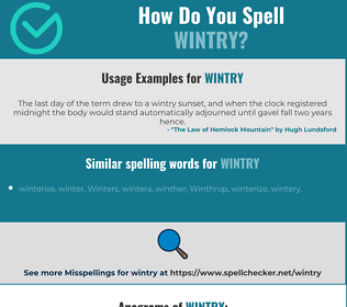Correct spelling for wintry
