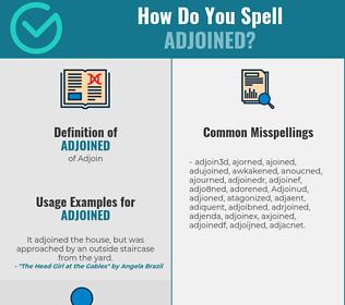 Correct spelling for Adjoined