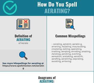 Correct spelling for Aerating