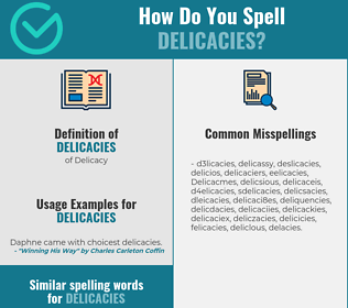 Correct spelling for Delicacies