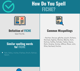 Correct spelling for Fiche