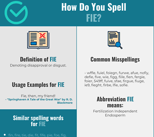Correct spelling for Fie