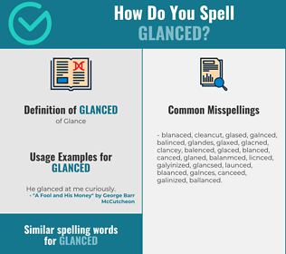 Correct spelling for Glanced