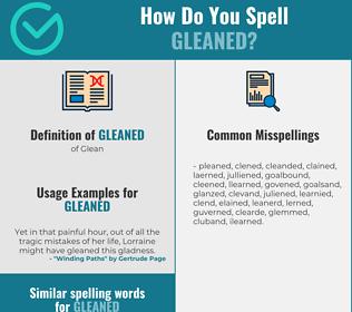 Correct spelling for Gleaned