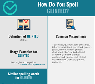 Correct spelling for Glinted