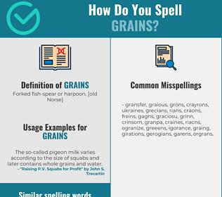 Correct spelling for Grains