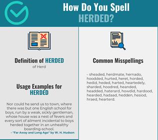 Correct spelling for Herded