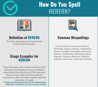 Correct spelling for Hereon