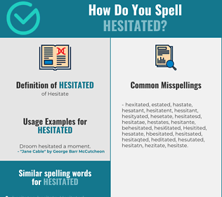 Correct spelling for Hesitated