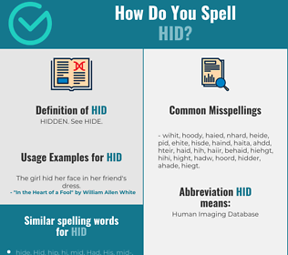 Correct spelling for Hid