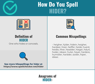 Correct spelling for Hider