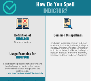 Correct spelling for Indictor