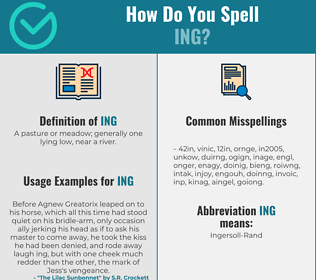 Correct spelling for Ing
