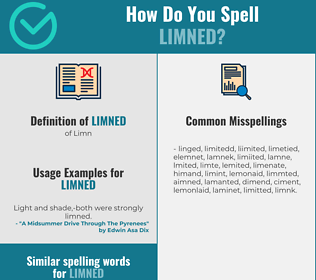 Correct spelling for Limned