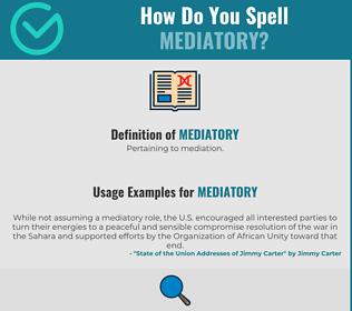 Correct spelling for Mediatory