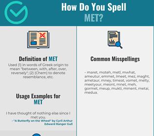 Correct spelling for Met