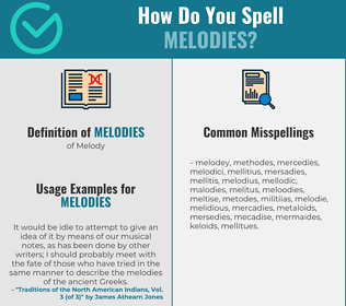Correct spelling for Melodies