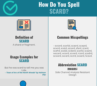 Correct spelling for Scard