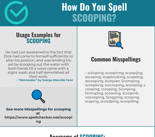 Correct spelling for Scooping