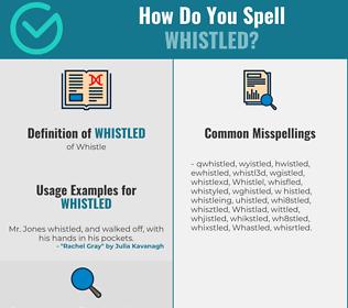Correct spelling for Whistled
