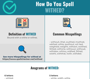Correct spelling for Withed