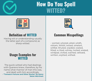 Correct spelling for Witted