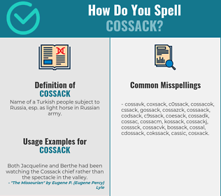 Correct spelling for Cossack