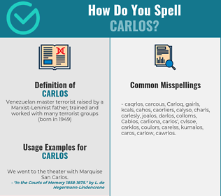 Correct spelling for Carlos