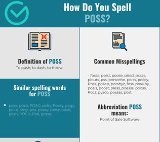 Correct spelling for Poss