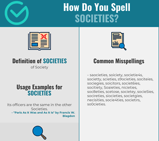 Correct spelling for Societies