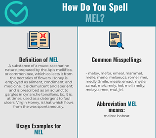 Correct spelling for Mel