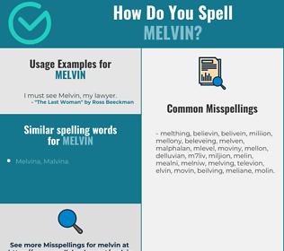 Correct spelling for Melvin