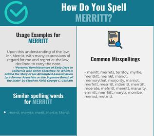 Correct spelling for Merritt