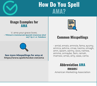 Correct spelling for Ama