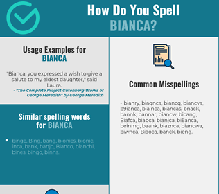Correct spelling for Bianca
