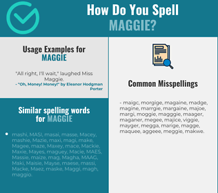 Correct spelling for Maggie