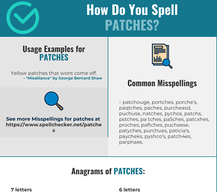 Correct spelling for Patches