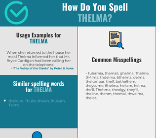 Correct spelling for Thelma