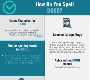 Correct spelling for Doug