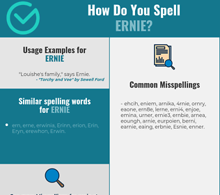 Correct spelling for Ernie