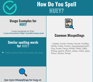 Correct spelling for Huey