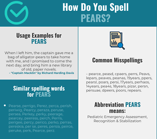 Correct spelling for Pears