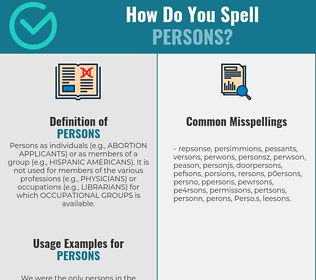 Correct spelling for Persons