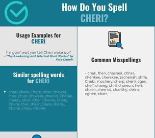 Correct spelling for Cheri