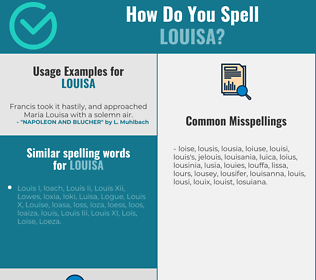 Correct spelling for Louisa