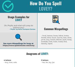 Correct spelling for Lovey